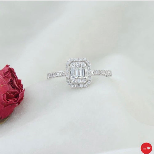 0.39 Ct F-G  Color Baget Yüzük - I'm Diamond