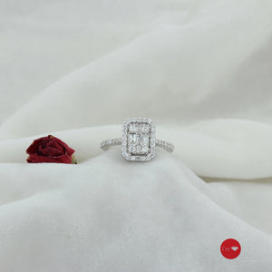 0.53 Ct G-H Color Pırlanta Baget Yüzük - I'm Diamond