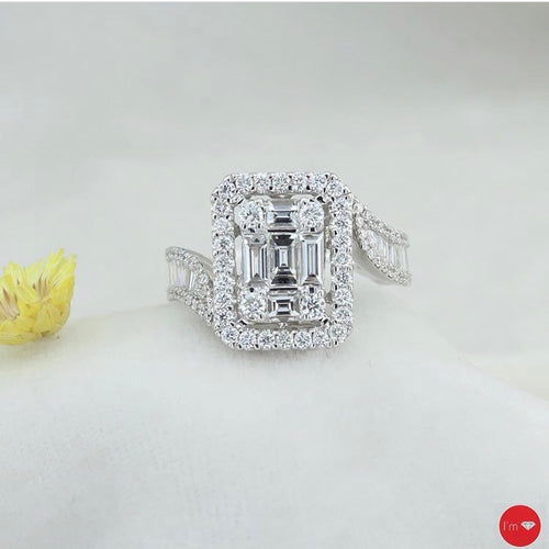 1.58 Ct E-F  Color Baget Yüzük - I'm Diamond
