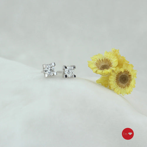 0.41 Ct E-F Color Pırlanta Küpe - I'm Diamond