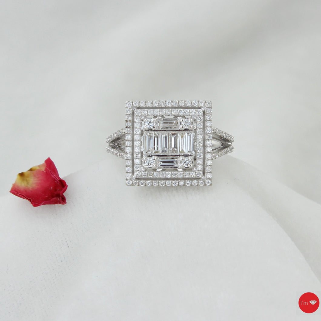 0.70 Ct F Color Baget Yüzük - I'm Diamond
