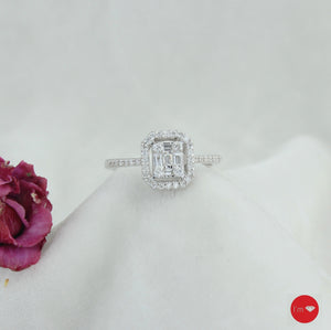 0. 36  Ct F-G Color Pırlanta Baget Yüzük - I'm Diamond