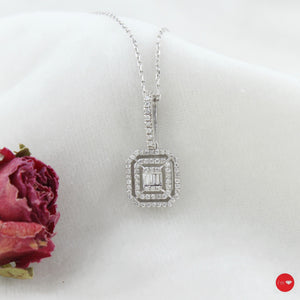 0.21 Ct F-G Color Pırlanta Baget Kolye