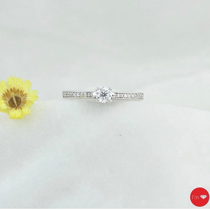 0.34 Ct F Color Tektaş Yüzük - I'm Diamond