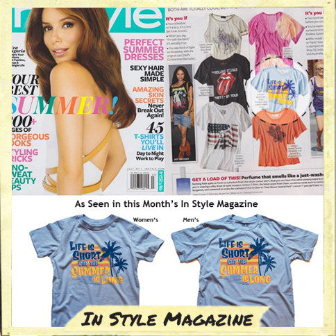 Solid Threads Life is Short, Summer is Long Vintage T-shirt | In Style Magazine