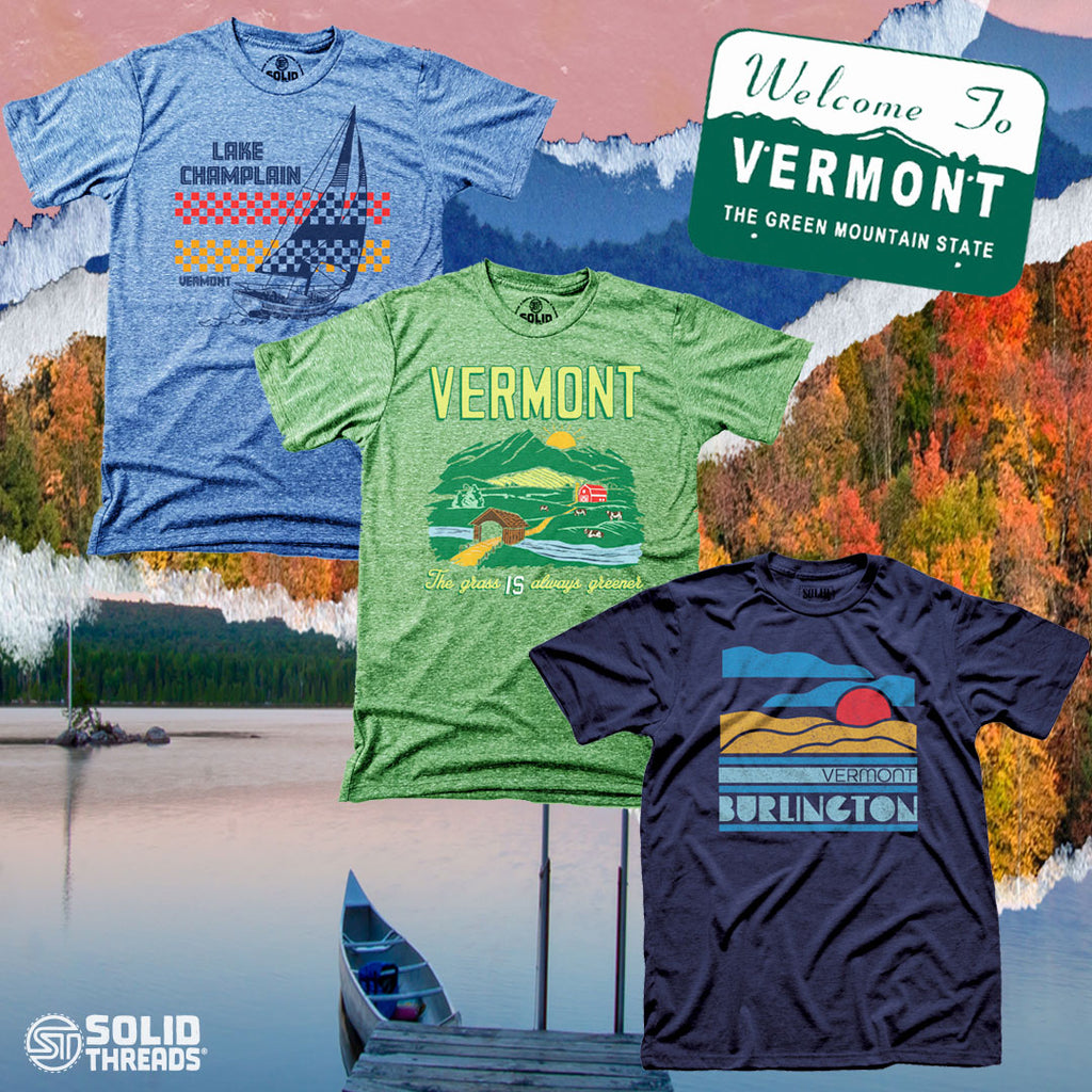 cool_retro_vermont_tee_shirts_vintage_green_mountains_shirt_series_with_landscape_background_solid_threads