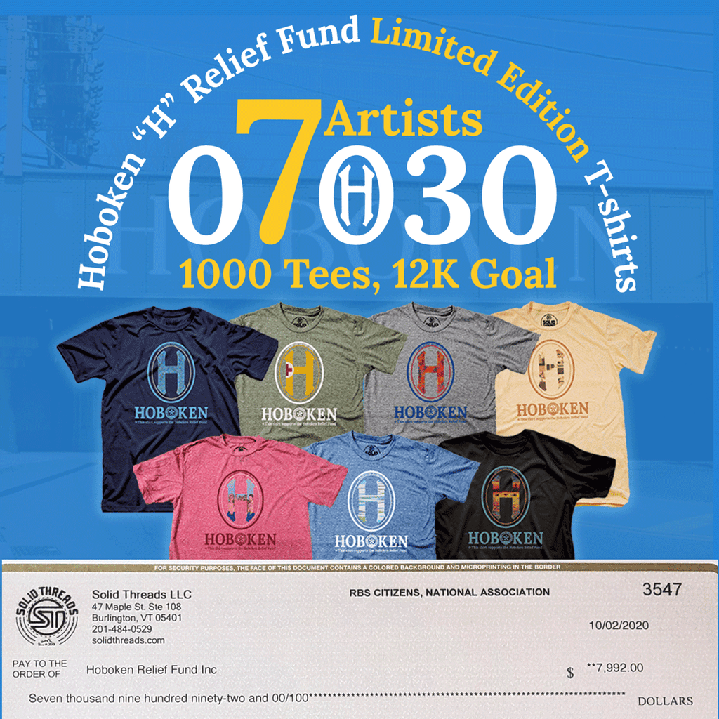 hoboken_h_relief_fund_donation_check_limited_edition_shirt_series