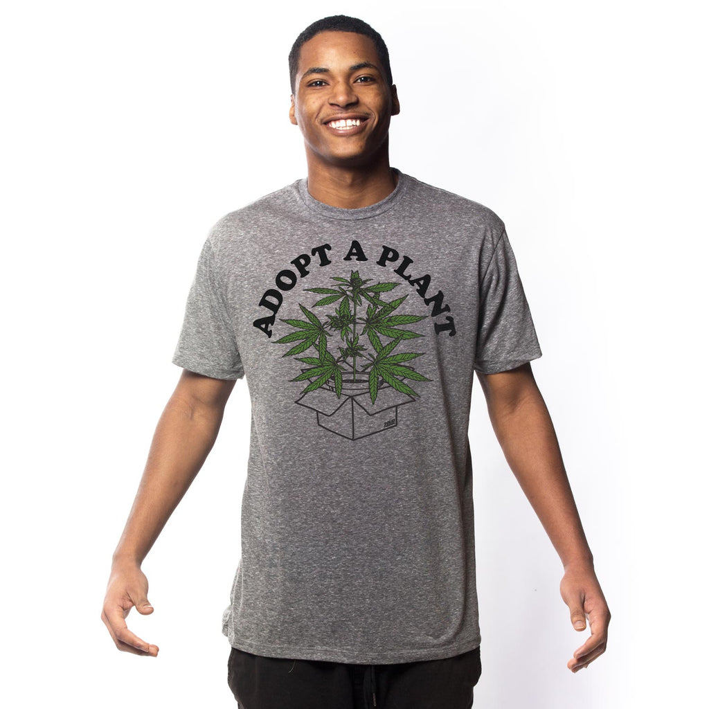 Adopt a Plant Vintage Inspired Marijuana Tee Shirt | Cool Weed Graphic Tee