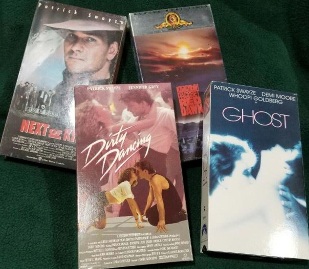 Retro Collection of Patrick Swayze VHS Cassettes