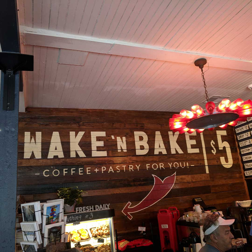 Cool Retro Wake N Bake Sign