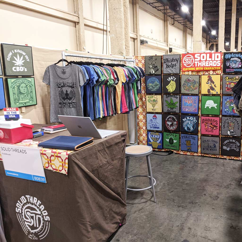 Cool Wholesale Graphic Tees for Kids | Vegas Tradeshow T-shirt Booth 2019