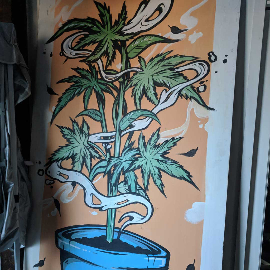 Cool Street Art Marijuana Painting