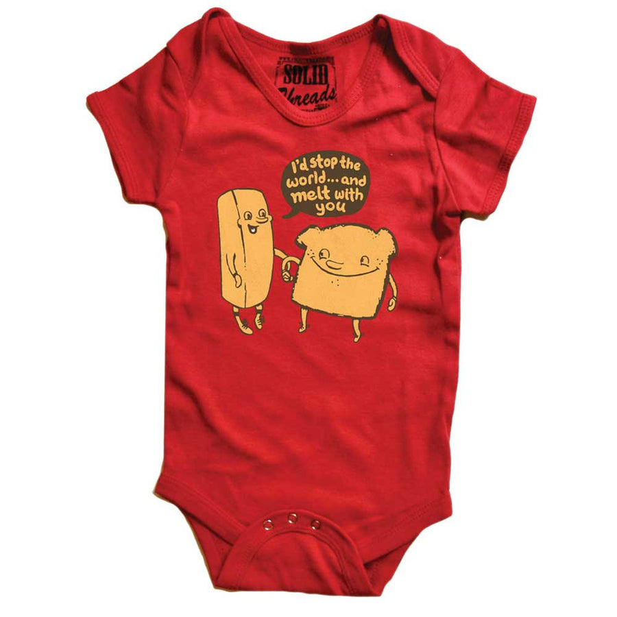 Baby I'll Stop The World And Melt With You Retro Onesie | SOLID THREADS