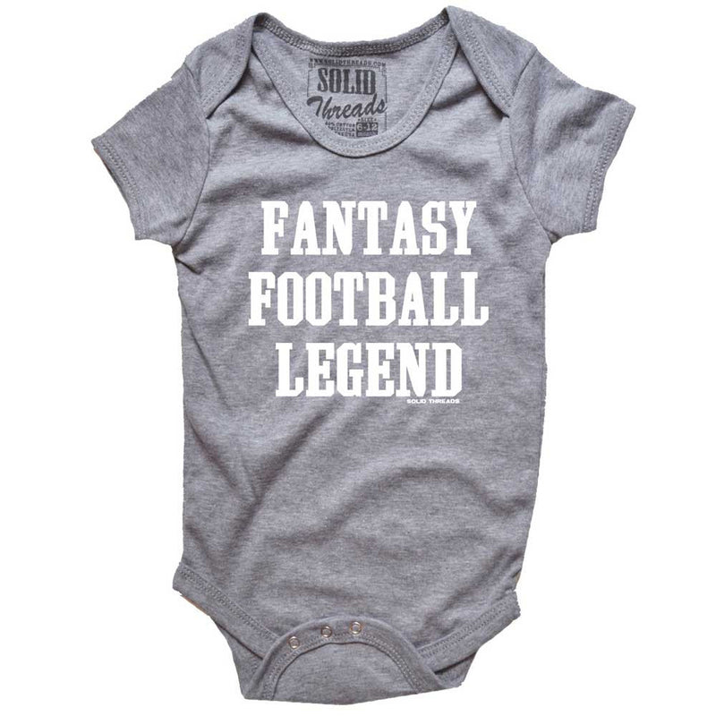 Baby Fantasy Football Legend Retro Onesie | SOLID THREADS