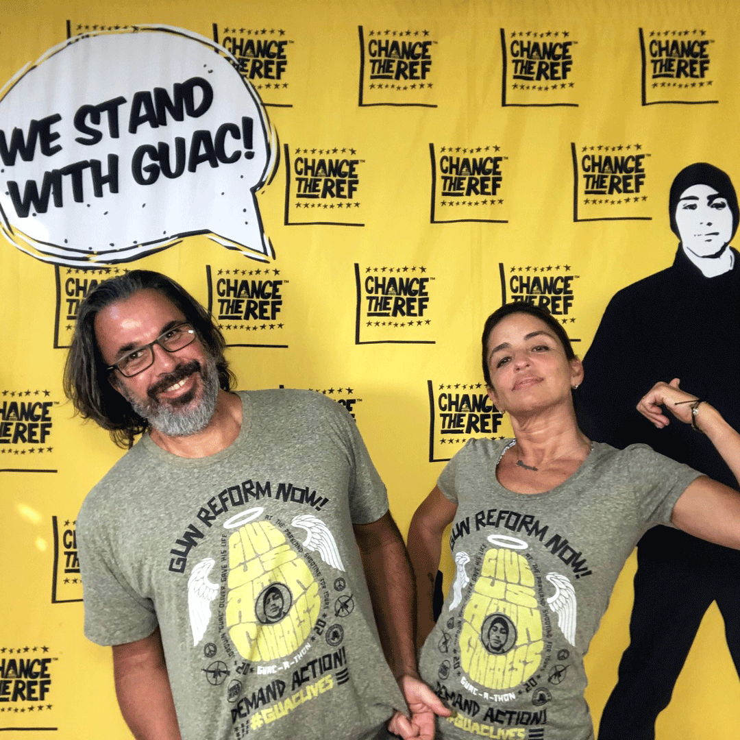 Men's Guac live give us action congress vintage inspired gun reform tee shirt with cool retro protest graphic | #GUAClives in SolidariTEE with Change The Ref