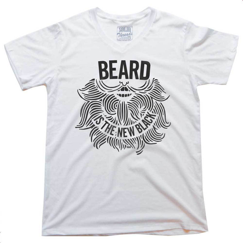 Beard is the New Black Vintage V-neck T-shirt | SOLID THREADS