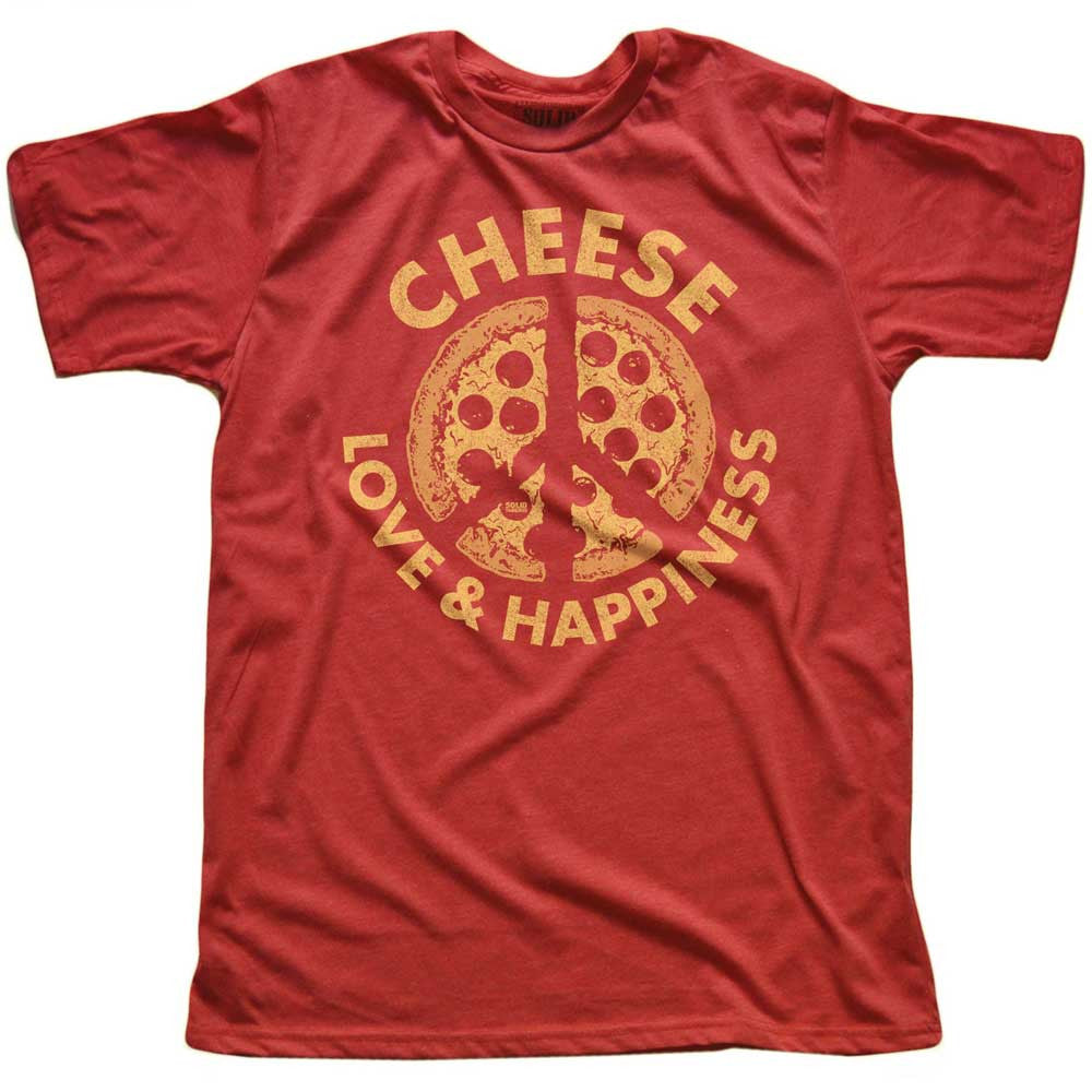 Cheese, Love & Happiness Vintage T-shirt | SOLID THREADS