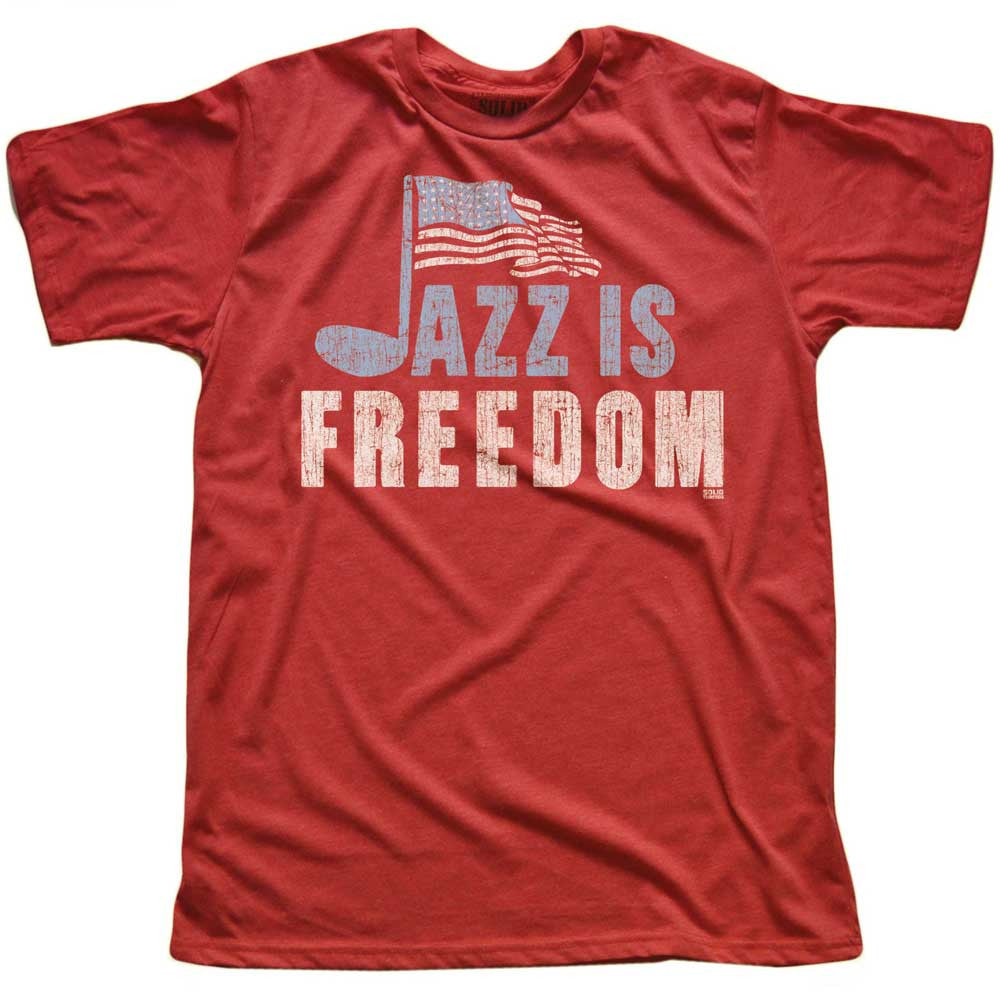 Jazz Is Freedom Vintage T-Shirt | SOLID THREADS