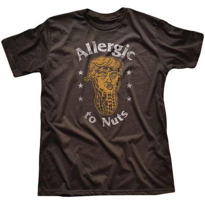 Allergic to Nuts Vintage Inspired Political T-shirt | SOLID THREADS