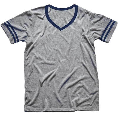 Men's Solid Threads V-Neck Triblend Grey/Dirty Navy T-shirt
