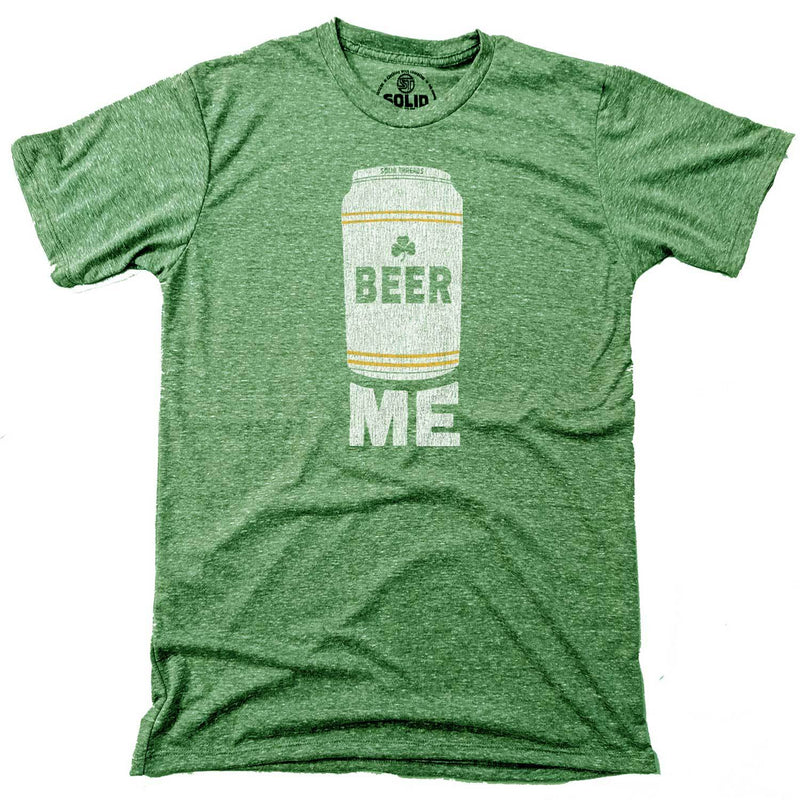 Men's Beer Me Vintage Inspired T-shirt with funny St. Paddy's graphic | Solid Threads