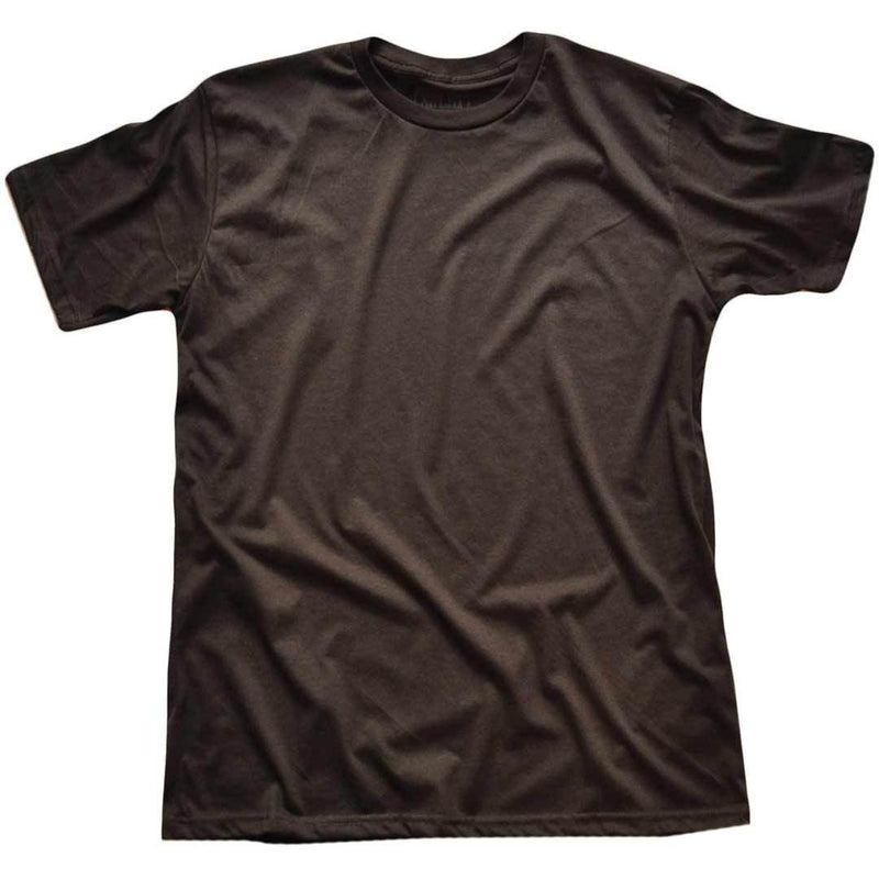 Men's Solid Threads Crew Neck Dark Charcoal T-shirt