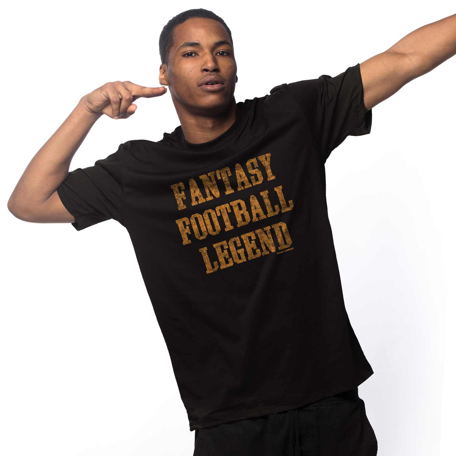 Men's Fantasy Football Legend Vintage Inspired T-shirt | Retro sports graphic tee | Solid Threads