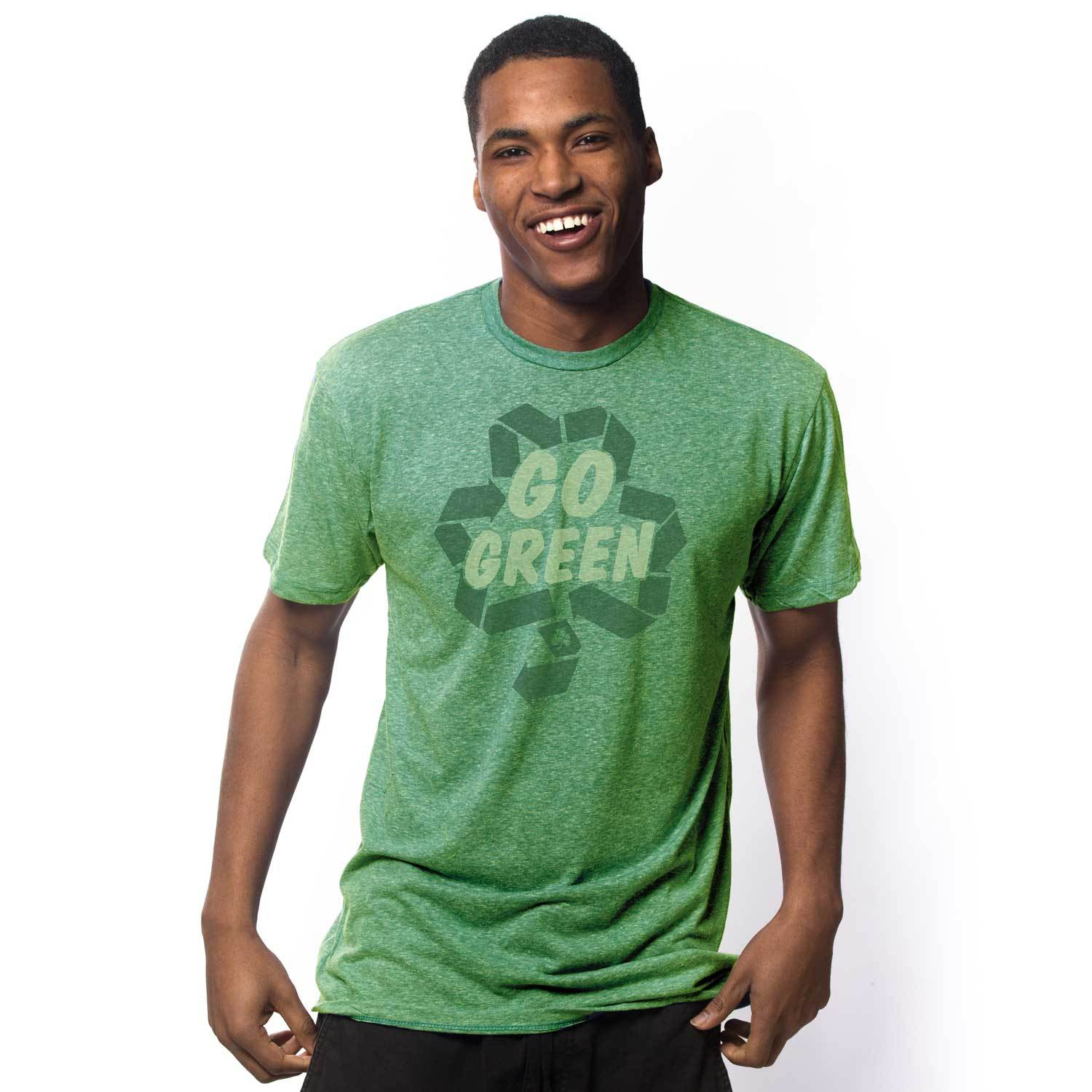 Men's Go Green Vintage Inspired T-shirt with funny St. Paddy's graphic | Solid Threads