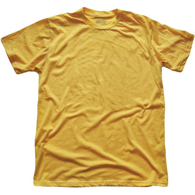 Men's Solid Threads Crew Neck Gold T-shirt