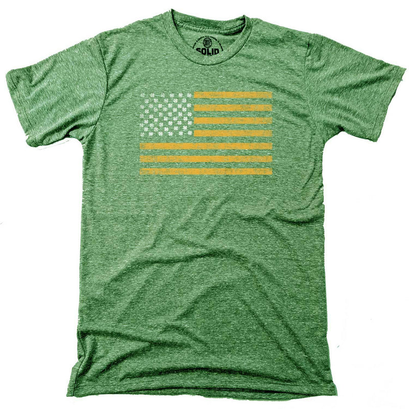 Men's Irish American Vintage Inspired T-shirt with cool, St. Paddy's graphic | Solid Threads