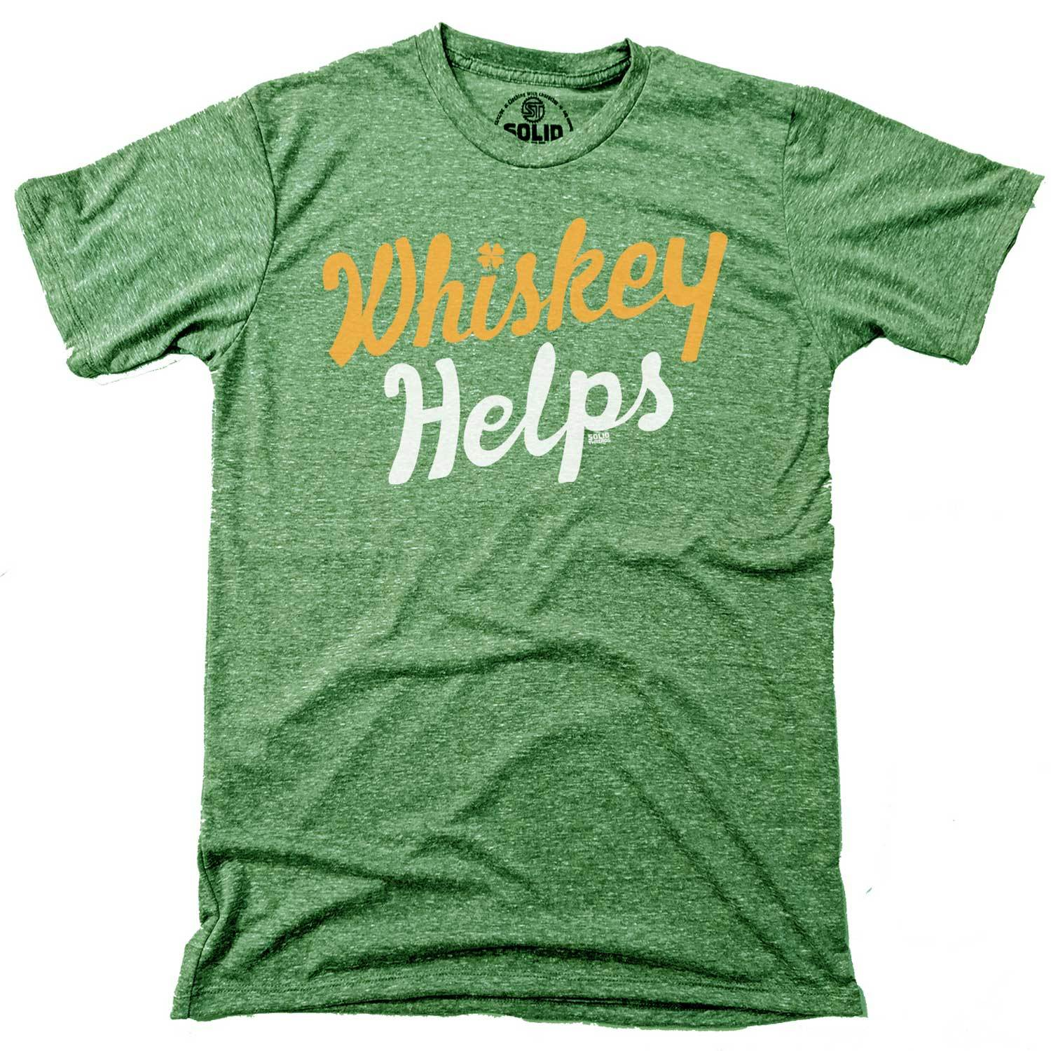 Men's Irish Whiskey Helps Vintage Inspired T-shirt with cool, St. Paddy's graphic | Solid Threads