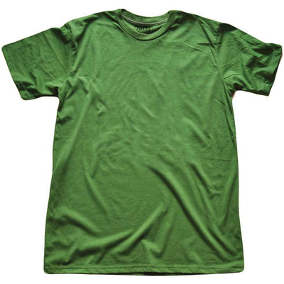 Men's Solid Threads Crew Neck Kelly T-shirt