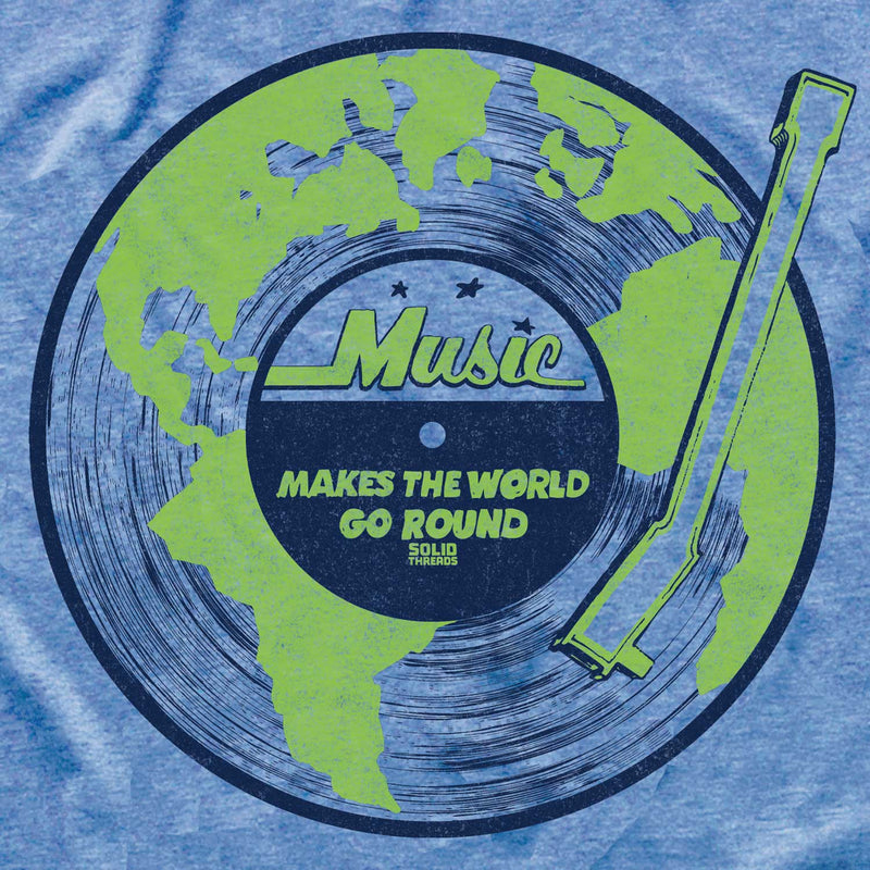 Women's Music Makes The World Go Round Vintage T-shirt | SOLID THREADS