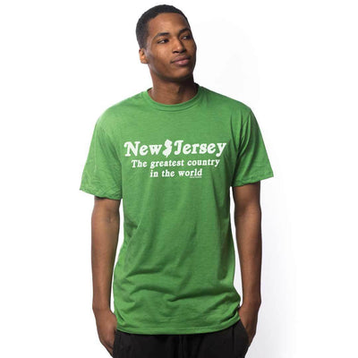 New Jersey The Greatest Country In The World Vintage Inspired T-shirt on Model | SOLID THREADS