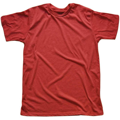 Men's Solid Threads Crew Neck Red T-shirt