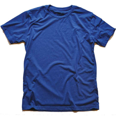 Men's Solid Threads Crew Neck Royal T-shirt