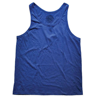 Men's Solid Threads Royal Tank Top