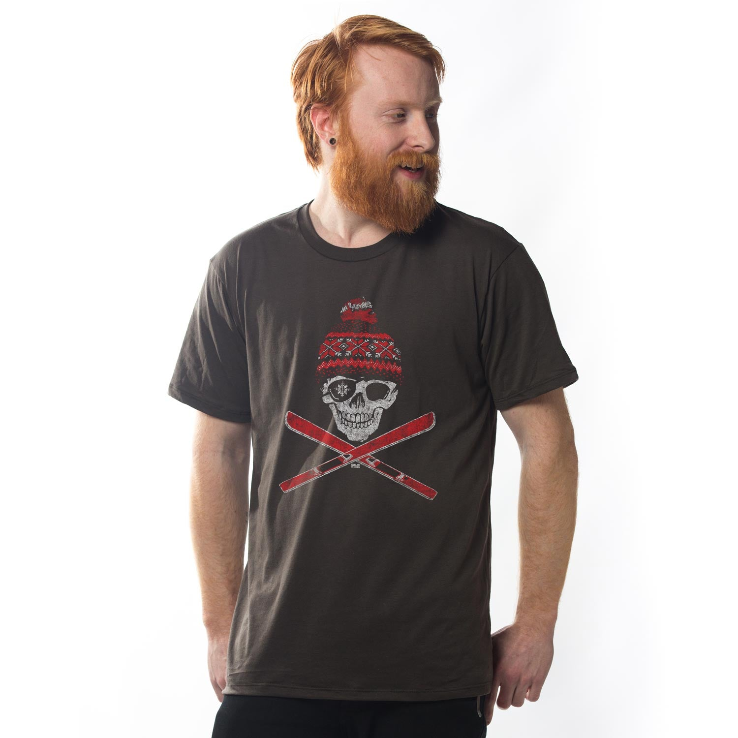 Ski Skull Vintage T-shirt | SOLID THREADS