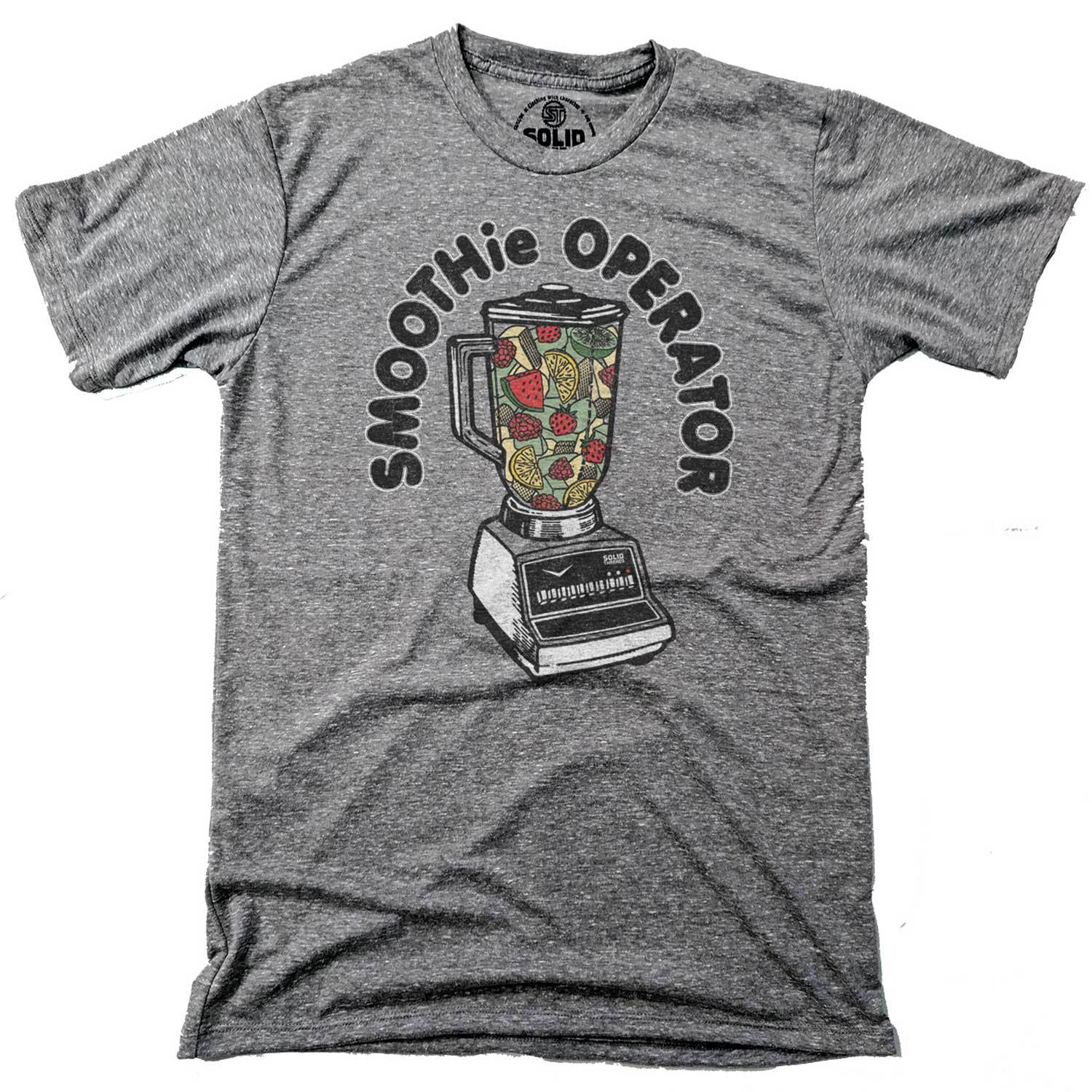 Men's Smoothie Operator Vintage Inspired T-Shirt | Funny Health Food Graphic Tee | Solid Threads