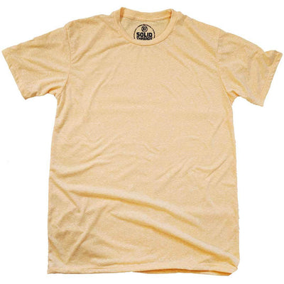 Men's Solid Threads Triblend Gold T-shirt