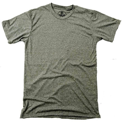 Men's Solid Threads Triblend Olive T-shirt
