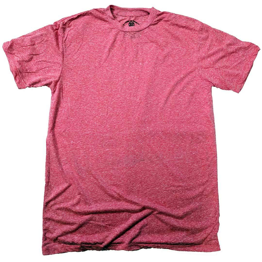 Men's Solid Threads Triblend Grey T-shirt