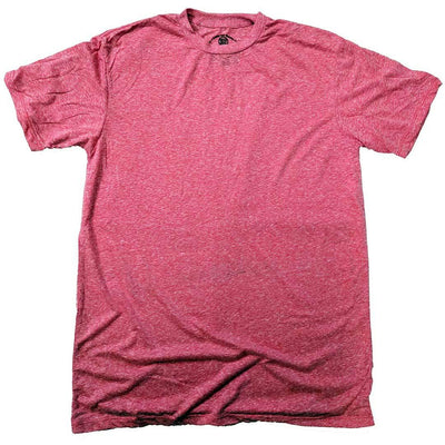 Men's Solid Threads Triblend Red T-shirt