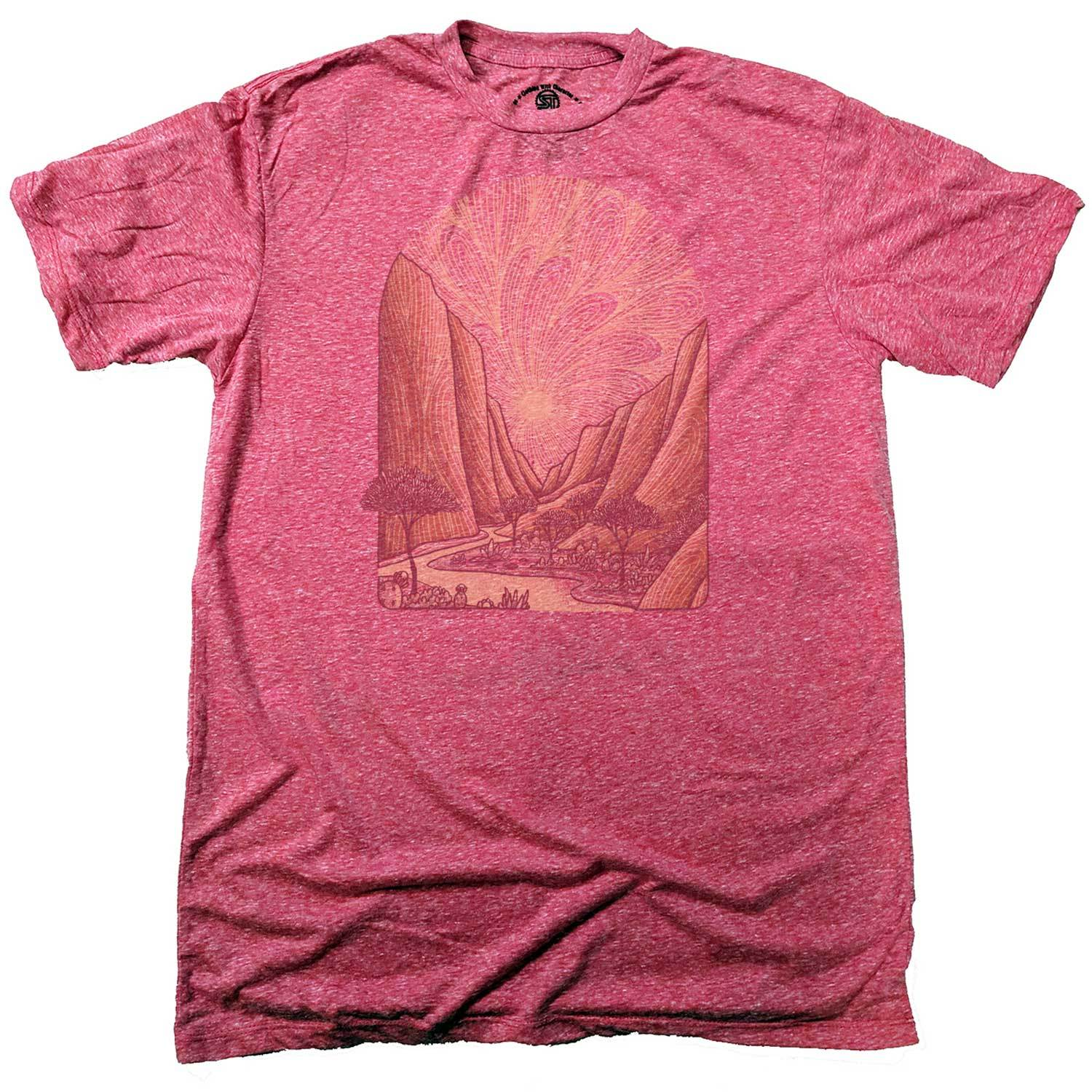 Men's Zion Vintage Inspired T-Shirt | Retro National Park Graphic Tee | Solid Threads