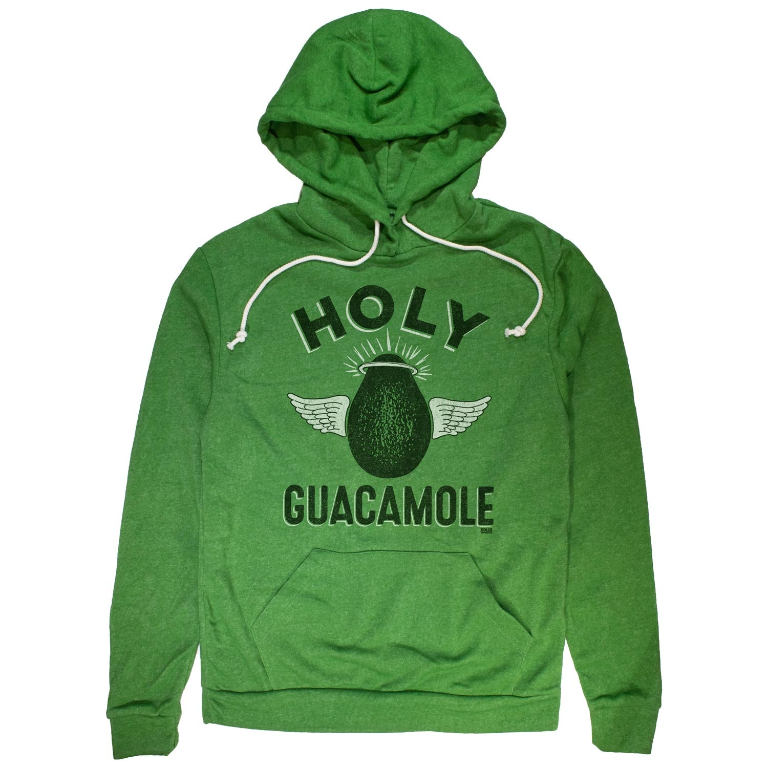 Holy Guacamole Vintage Pullover Hoodie | Funny Avocado Graphic | Solid Threads