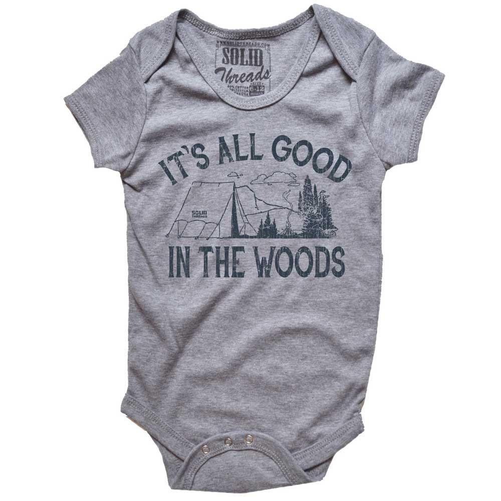 Baby It's All Good In The Woods Retro Onesie | SOLID THREADS