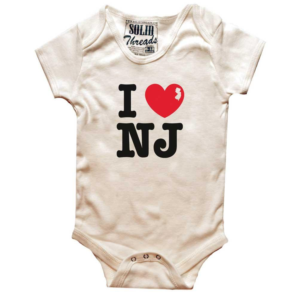 Baby I Heart NJ Retro Onesie | SOLID THREADS