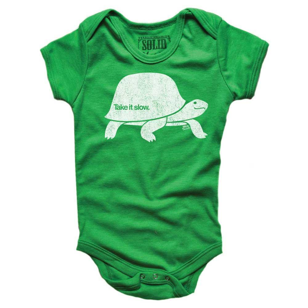 Baby Take It Slow Retro Onesie | SOLID THREADS