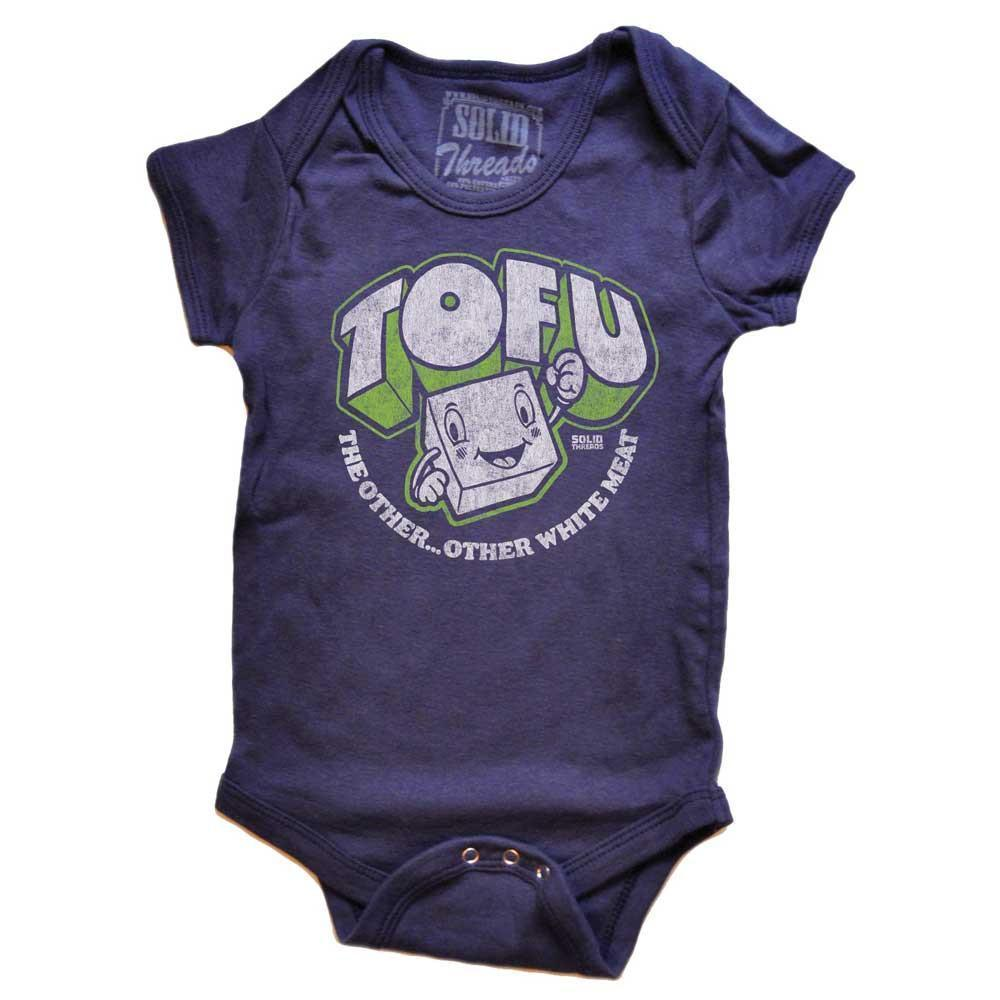 Baby Tofu, The Other Other White Meat Retro Onesie | SOLID THREADS