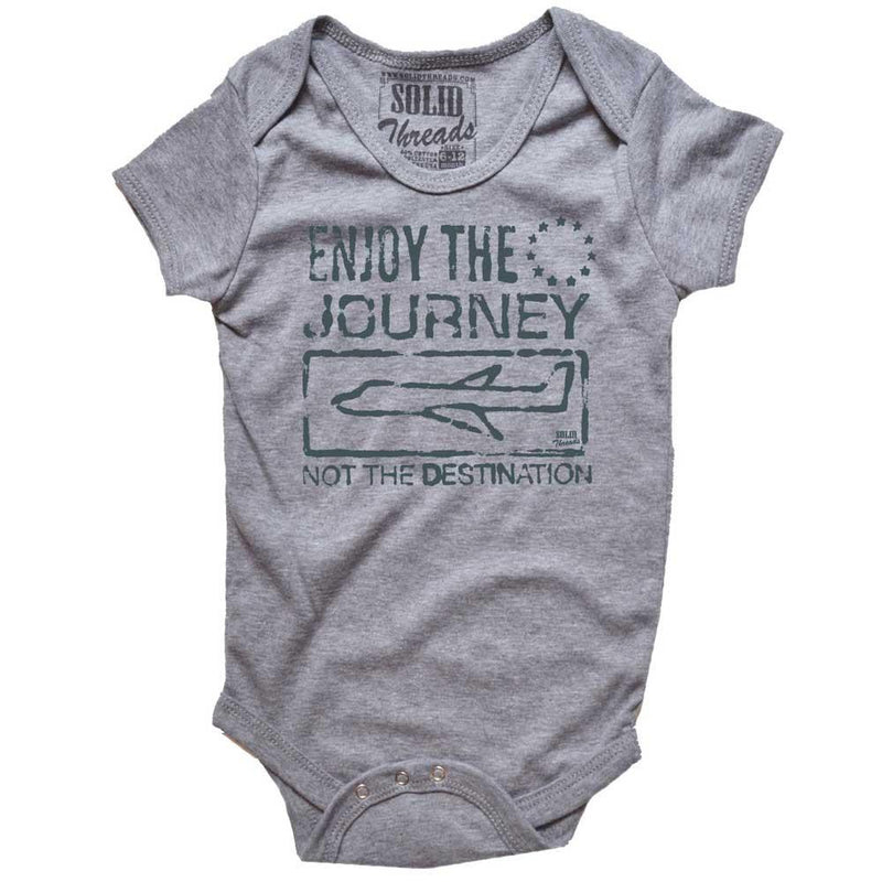 Baby Enjoy The Journey Not The Destination Retro Onesie | SOLID THREADS